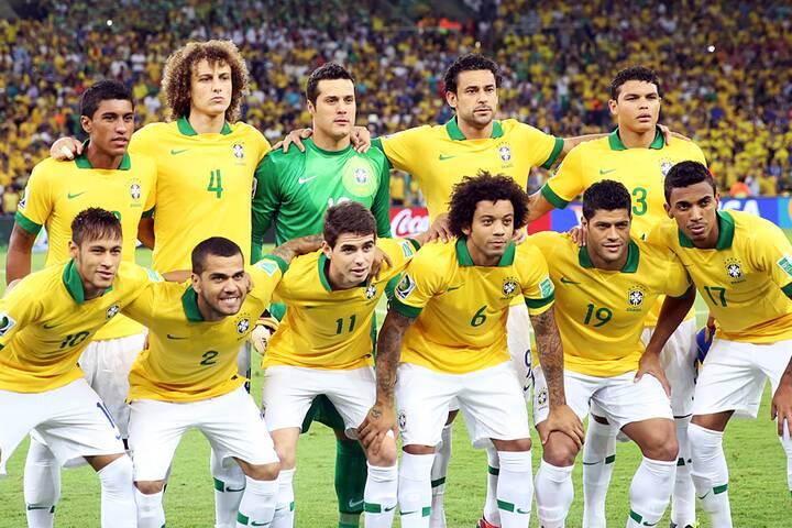 Fußballmannschaft Brasilien