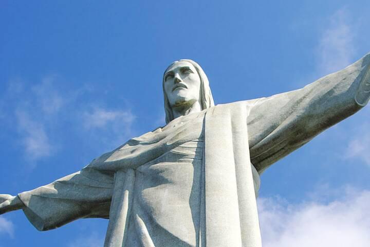 Christusstatue In Rio De Janeiro Brasilien